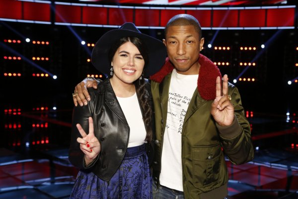 Pharrell - The Voice Saison 9 Live - Los Angeles - 24 novembre 2015