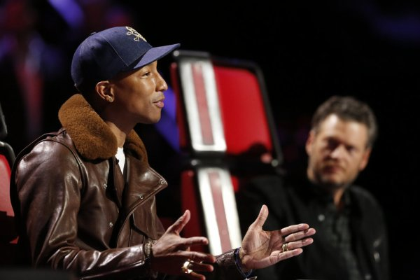 Pharrell - The Voice Saison 9 Live - Los Angeles - 1er décembre 2015