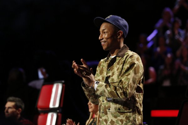 Pharrell - The Voice Saison 9 Live - Los Angeles - 7 décembre 2015
