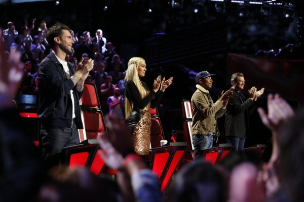 Pharrell - The Voice Saison 9 Live - Los Angeles - 8 décembre 2015