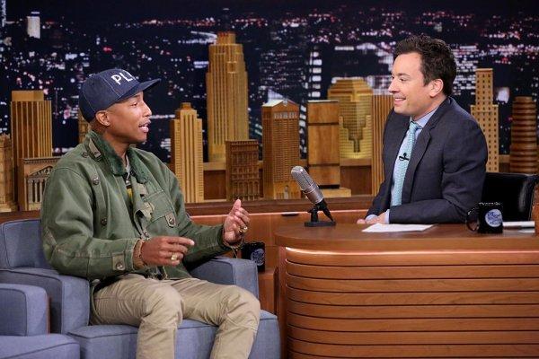 Pharrell - Tonight Show Starring Jimmy Fallon - NYC - 3 mars 2016