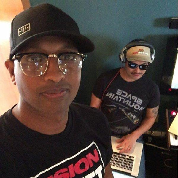 Chad en studio avec ... - 26 mars 2016