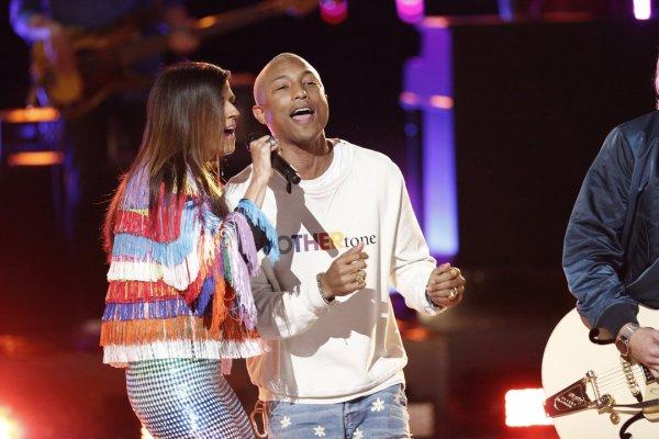 Pharrell - The Voice Saison 10 Live - 24 mai 2016