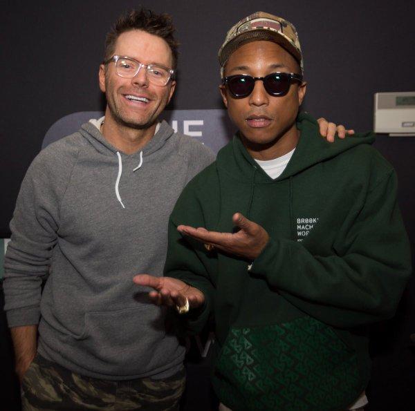 Pharrell - Bobby Bones Show - Nashville - 8 juin 2016
