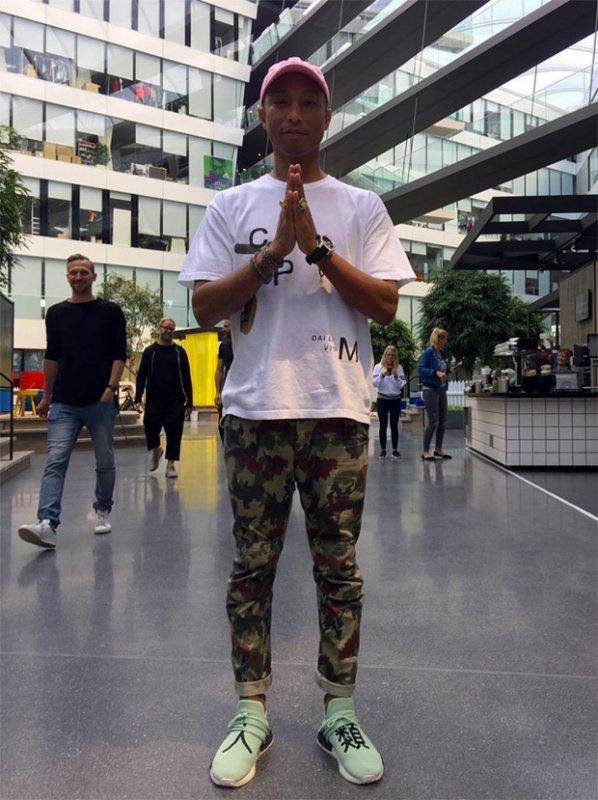 Pharrell - Adidas HQ - Allemagne - 7 juillet 2016