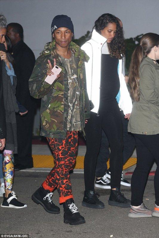 Pharrell & Helen - Concert de Kanye West - Inglewood, Californie - 1er novembre 2016