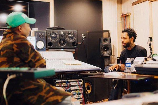 Pharrell en studio avec ... - février/ mars 2017