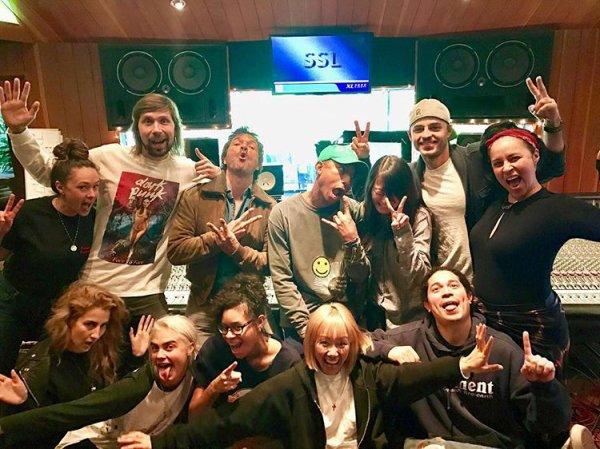Pharrell en studio avec ... - mars 2017