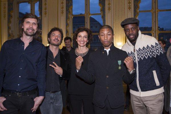 Pharrell Officier des Arts et Lettres - Paris - 6 mars 2017