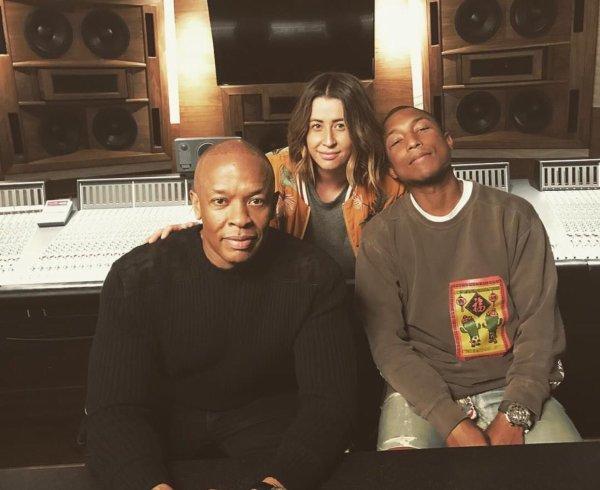Pharrell en studio avec ... - 2017