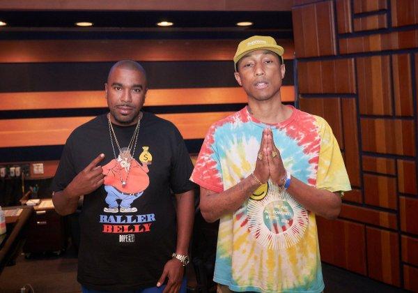 Pharrell en studio avec ... - mai 2017