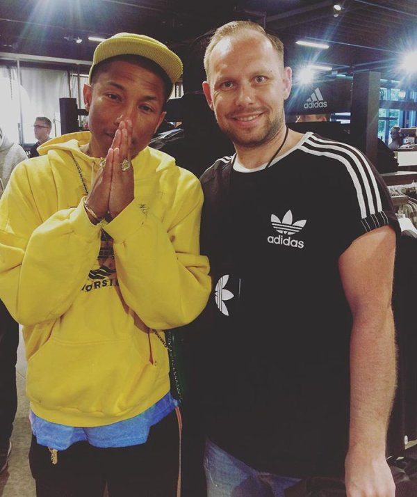 Pharrell - Adidas HQ - Allemagne - 6 juin 2017