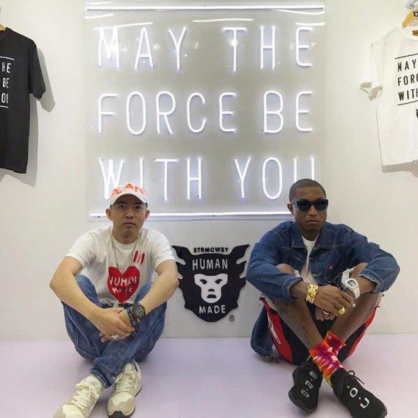 Pharrell - Shanghai, Chine - 1er septembre 2017