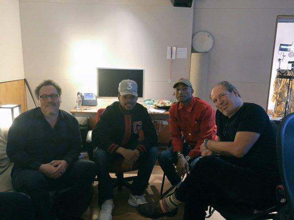 Pharrell en studio avec ... - 9 mars 2018