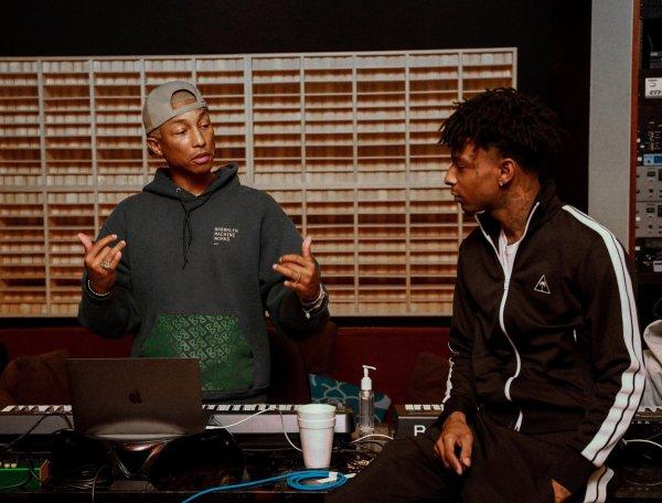 Pharrell en studio avec ... - Mars 2018