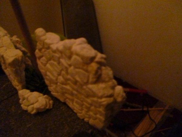 essayer de faire un murs en pierre en ruine