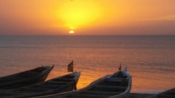Couché  de soleil Nianing Sénégal