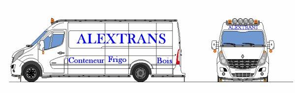 La camionette de mon entreprise 2D ''ALEXTRANS''
