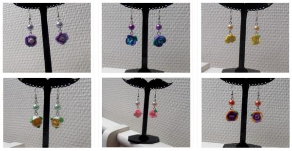 ✿ Article n°5 : Les 6 premières paires de boucles d'oreilles pour la nouvelle collection