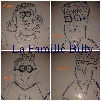 Premier Dessin La  Famille Billy.