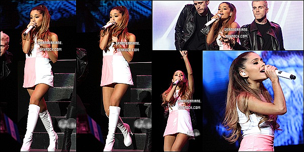 .  29/06/14 : Ariana était à la « KTUphoria Summer Dance Party » organisé par la radio 103.5 KTU à East Rutherford.  La chanteuse aurait interprété ces deux titres Problem et The Way,  Ariana était sublime comme a son habitude lors du show! Vous aimez ?    .