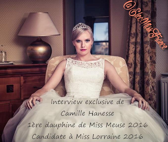 Interview Camille 1ère dauphine de Miss Meuse 2016