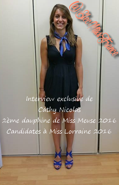 Interview Cathy 2ème dauphine de Miss Meuse 2016