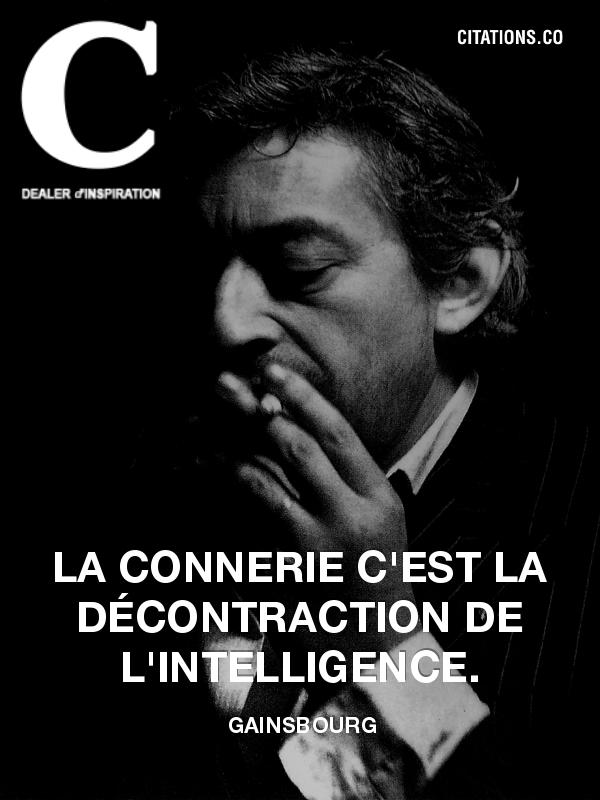 Délicieuse citation Gainsbourgeoise