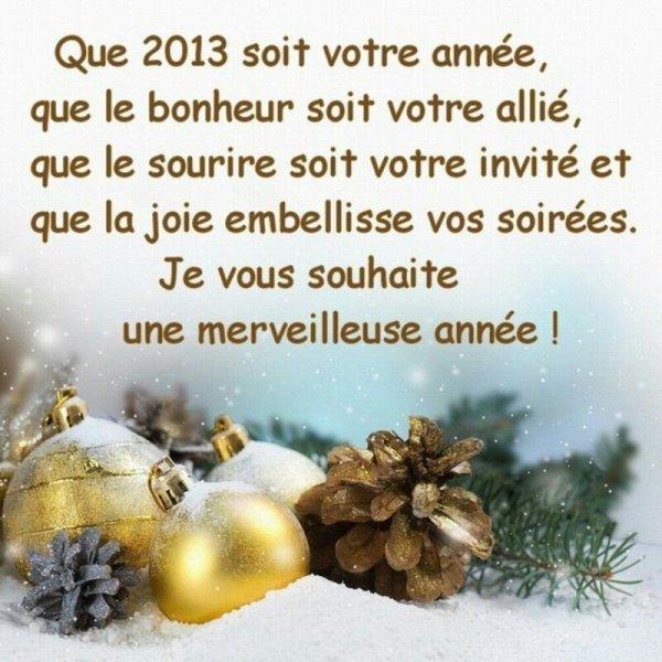 Trés bonne année a tous !