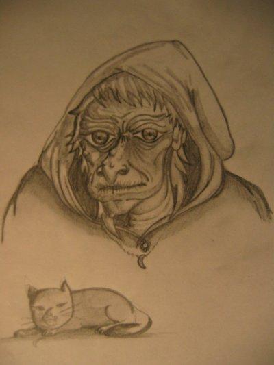 Autre sorcière et son chat^^