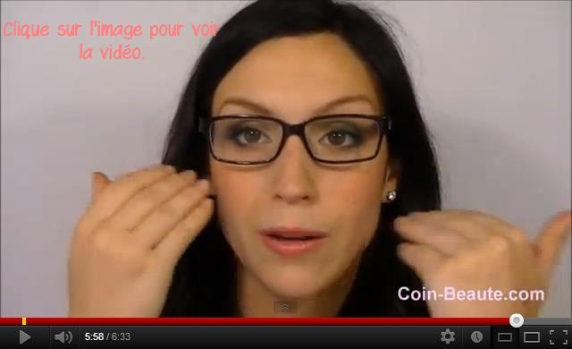 Se maquiller quand l'on porte des lunettes de vue.