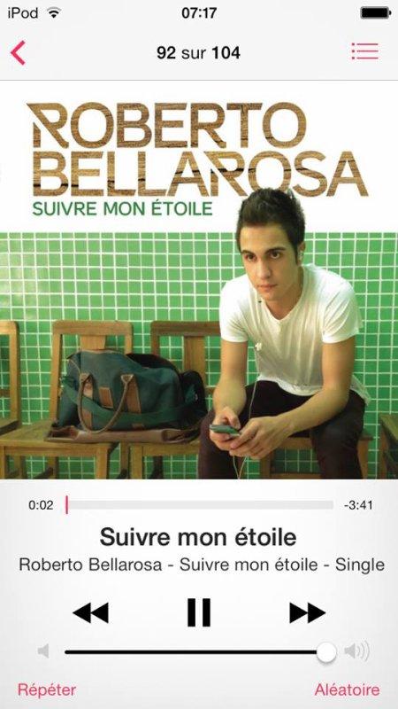 """Photoschoot de Roberto + les 2 singles """"Suivre mon Etoile"""""""