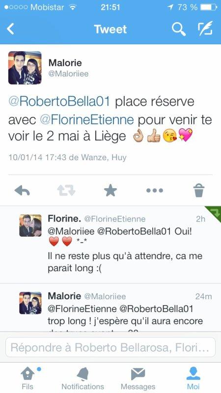 Le 2 mai; ira donc voir Roberto à Liège pour les Restos du c½ur ❤️