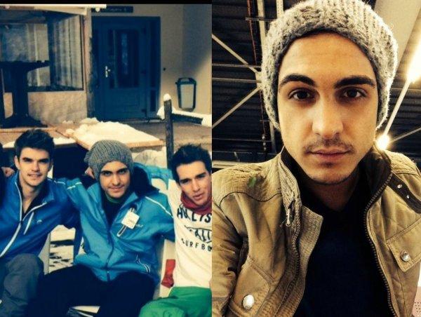 Roberto profite quelque jour pour aller skier à la montagne avec des amis Français avant de commencer une année 2014 de folie ! ❤️
