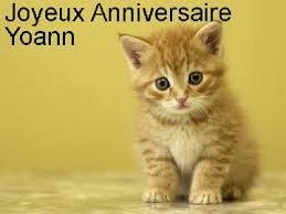 Un très bon anniversaire à mon ami YOHAN