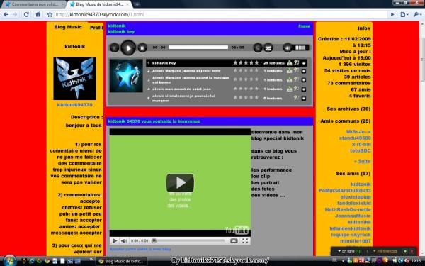 Projet PUB. Blog de kidtonik94370. Blog music sur les kidtonik. J'aime ce blog.. Il est pas mal.. :)
