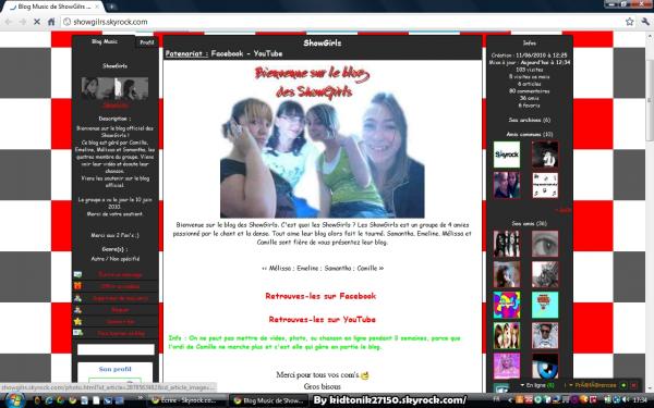 Projet PUB. Blog de showgilrs. Un blog de 4 amies passionné par le chant et la danse.
