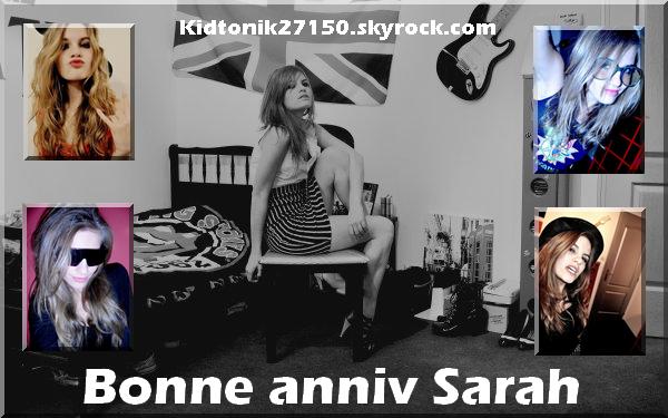 Bonne anniversaire Sarah !