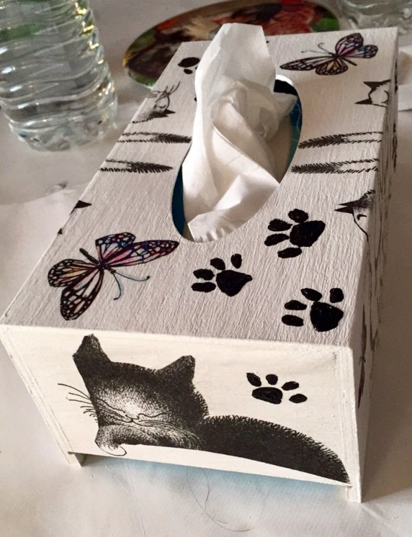 """Boîte à Mouchoirs """"chats Dubut """""""
