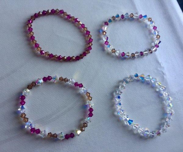 """Bracelets élastiques """"Swarovski """""""
