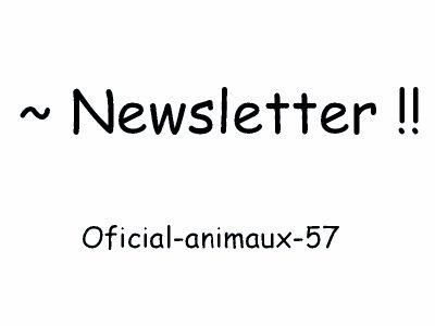 ~ Newsletter ♥♥
