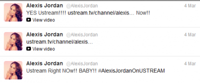 Alexis Jordan: Tweets (and Retweets) of the 4th March 2012
