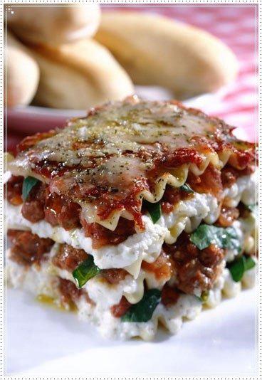 Lasagnes végétariennes au fromage blanc