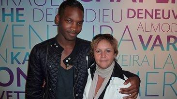 """Scénariste Ahmed Dramé et l'acteur Stéphane bak  du Film """" LES HERITIERS"""" réalisatrice Marie Castille Mention Scharr"""