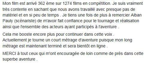 FESTIVAL DU FILM REALISATRICE LYDIA.B