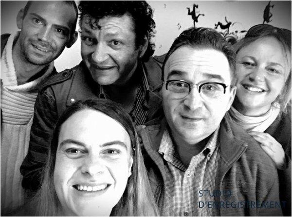 Studio d'enregistrement avec l'artiste David Casado (auteur compositeur :Lydia Brun / arrangeur: Stéphane Suire)