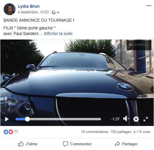 """BANDE ANNONCE """"5ème PORTE GAUCHE""""  + de 4000 vues sur FB  Merci à tous"""