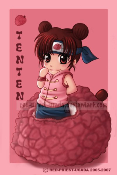 Voici Tenten mon 3ème perso preféré dans Naruto =p