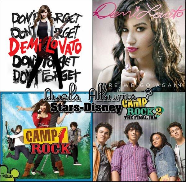 . Quels Albums de la Miss Lovato préfère-tu ?   .