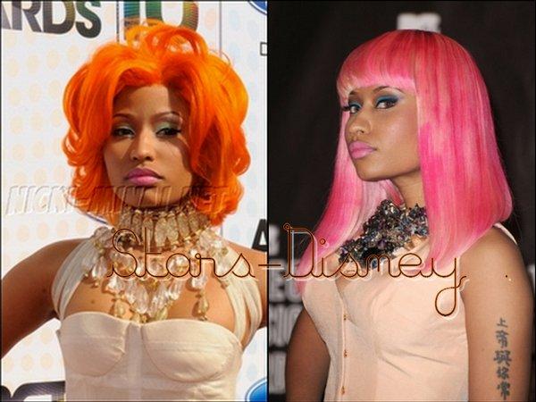 . Quels couleurs de Cheveux préfère-tu sur Nicki Minaj ? :)   .